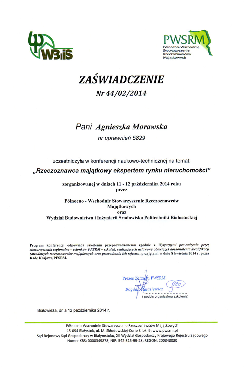 ATM  Wycena nieruchomości - Białystok